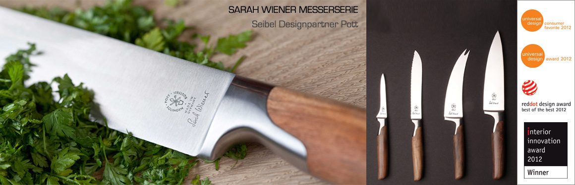 """Messerserie """"Sarah Wiener"""" für Pott"""